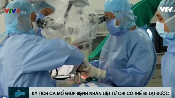 Ca mổ KỲ TÍCH tại bệnh viện Trưng Vương Hồ Chí Minh đã giúp bệnh nhân liệt tứ chi có thể hồi phục