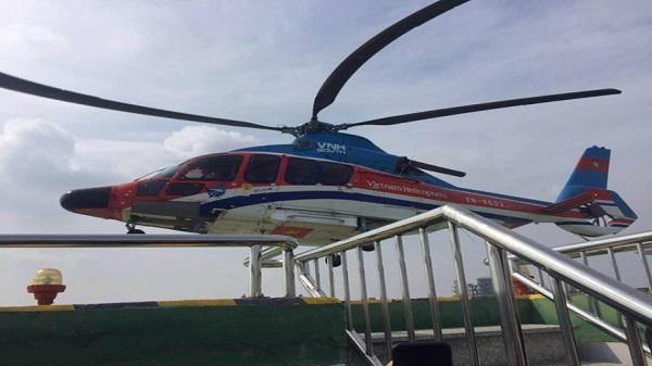 Chở khách bằng trực thăng từ trung tâm Sài Gòn ra sân bay Tân Sơn Nhất