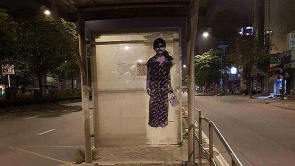 Nhà chờ xe buýt kiểu 'nhát ma' giữa Sài Gòn