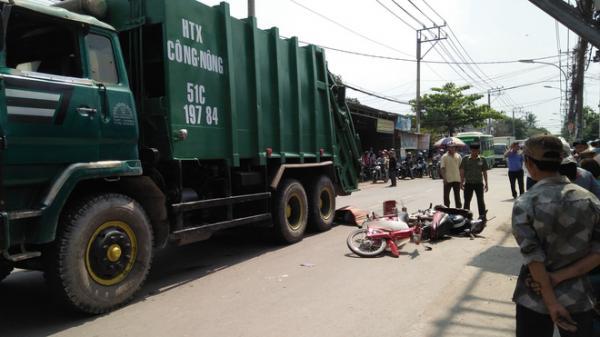 Đi mua hoa dự hội xuân cuối năm, một học sinh trung học phổ thông ở Sài Gòn bị xe rác cán tử vong