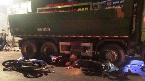 Lộ nguyên nhân TNGT kinh hoàng xe ben cuốn hàng loạt xe máy vào gầm ở Sài Gòn