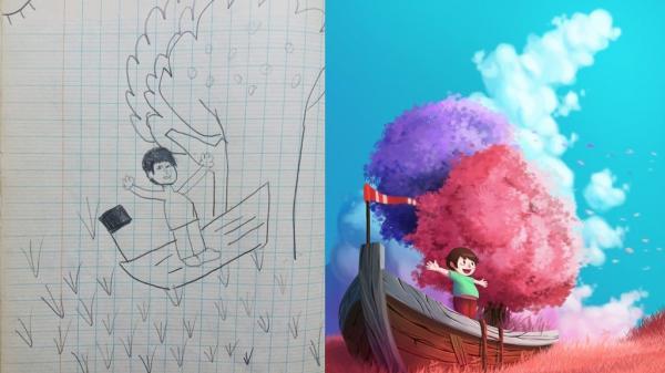 9X Sài Gòn sáng tạo trên những nét vẽ ngây ngô thời thơ ấu