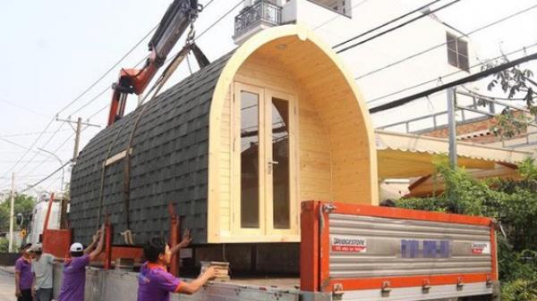 Ngôi nhà 140 triệu ở Sài Gòn có thể tháo lắp vận chuyển đi khắp nơi khiến nhiều người thích thú