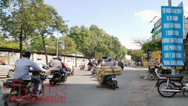Hôm nay, đường Nguyễn Văn Nghi và Nguyễn Kiệm được lưu thông hai chiều