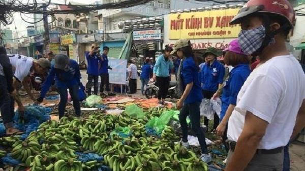 3 tấn chuối xanh được các sinh viên mang xuống phố 'giải cứu'