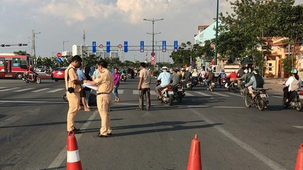 TP.HCM: Bỏ chạy khi tông 3 xe máy, ô tô tiếp tục tông người truy đuổi