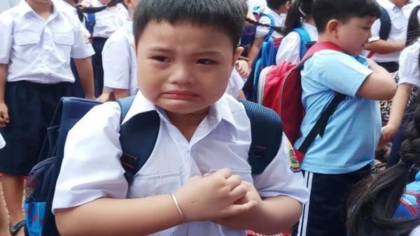 TP.HCM: Học sinh lớp 1 mếu máo trong ngày đầu tựu trường
