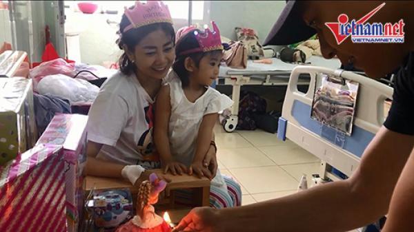 Mai Phương mừng sinh nhật con gái 5 tuổi trong bệnh viện ở TP.HCM