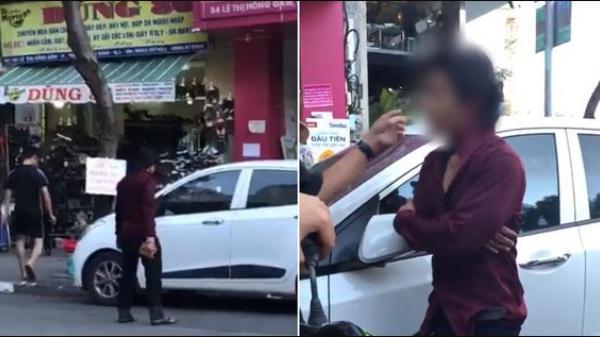 """TP.HCM: Thanh niên hổ báo đập vỡ cửa kính ô tô vì làm """"vướng đường"""" rồi lập tức """"hóa mèo"""" khi lực lượng chức năng xuất hiện"""