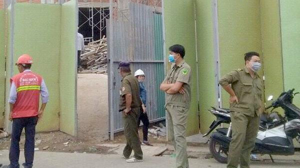Sập giàn giáo công trình khu Trung tâm thương mại và căn hộ Saigon Homes, 2 công nhân tử vong