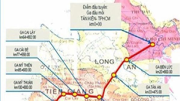 Kiến nghị đổi hướng tuyến đường sắt cao tốc TP.HCM - Cần Thơ