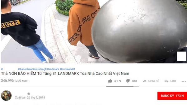 Chàng trai thả mũ bảo hiểm từ tầng 81 tòa nhà cao nhất Sài Gòn: Thử thách có thật hay câu view?
