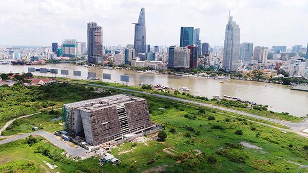 Cận cảnh khu đất xây nhà hát 1.500 tỷ ở Thủ Thiêm