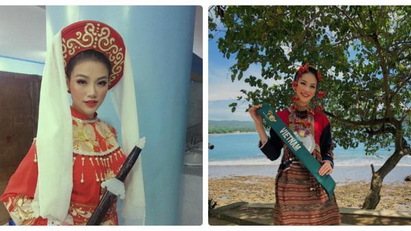 Người đẹp Bến Tre - Phương Khánh hát cải lương 'Tiếng trống Mê Linh' tại Miss Earth 2018: 'Sởn da gà' và quá bất ngờ!