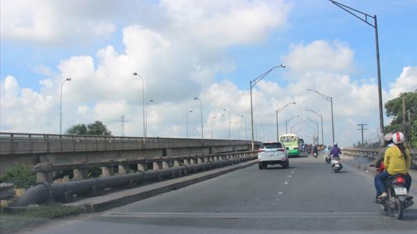 Từ hôm nay, cấm lưu thông qua cầu Bến Lức trên QL1 nối TPHCM với miền Tây