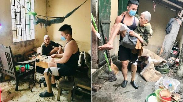 Chuyện chàng trai Sài Gòn m.ất một chân vẫn ngày ngày chăm sóc cụ già neo đơn nằm liệt giường