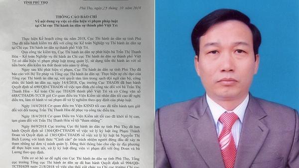 Phú Thọ: Hàng loạt cán bộ bị khởi t.ố