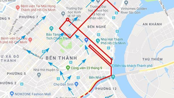 Một loạt đường trung tâm Sài Gòn bị cấm xe cuối tuần