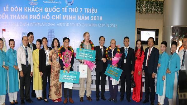 TP Hồ Chí Minh Đón vị khách quốc tế thứ 7 triệu trong năm 2018