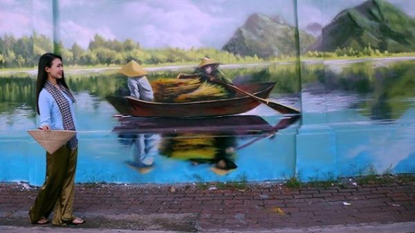 Bức tường cũ kỹ dài 60m bỗng biến thành những bức tranh phong cảnh quê hương 3 miền giữa Sài Gòn