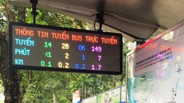 Bảng thông tin trực tuyến về các tuyến buýt lần đầu ra mắt