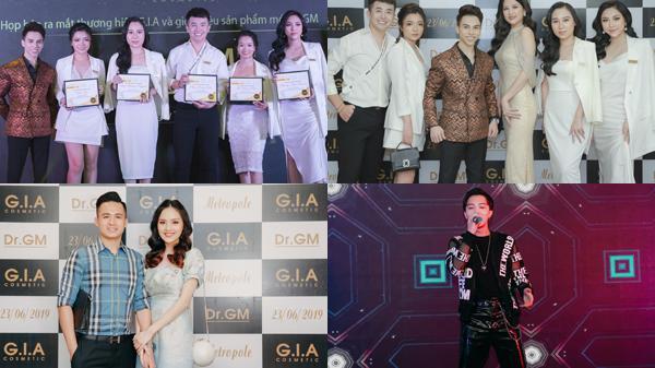 Dàn nghệ sĩ tới chúc mừng CEO Hoàng Trường Giang trong ngày ra mắt thương hiệu G.I.A Cosmetic