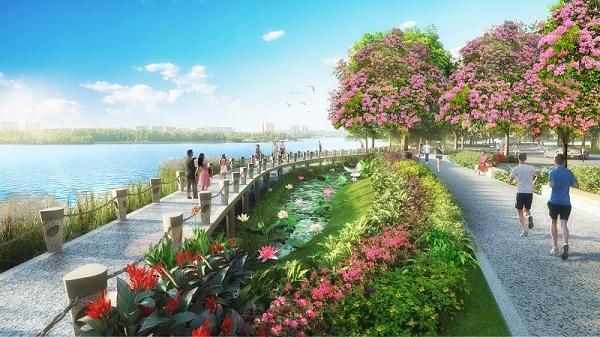 Công viên hoa anh đào triệu USD ở Phú Mỹ Hưng Midtown