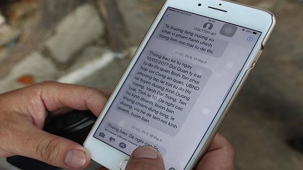 Gửi hơn 1.000 tin nhắn nhắc người dân trả lại vỉa hè