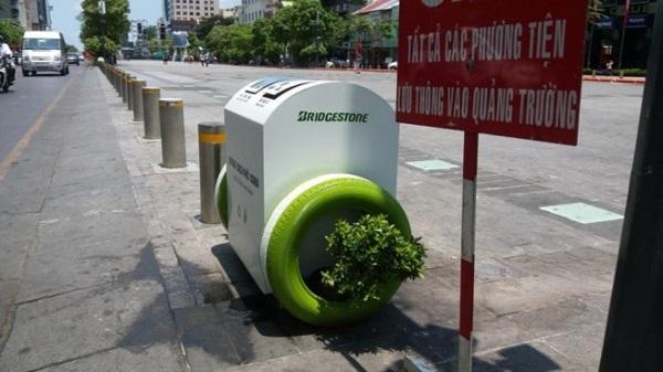 TP. HCM lắp đặt thùng rác hai ngăn hiện đại