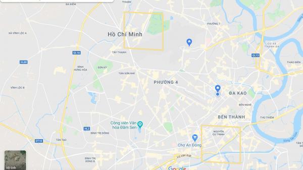 Xuất hiện 2 ô vuông màu vàng ở khu vực TP.HCM trên Google Maps, dân mạng đau đầu đi tìm nguyên nhân