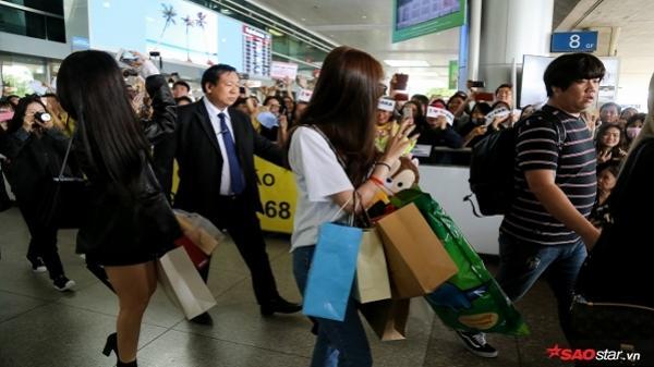 Hàng trăm fan Việt vây kín T-ara khiến sân bay Tân Sơn Nhất náo loạn