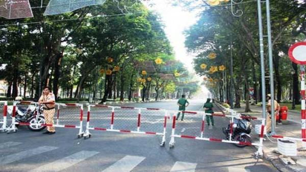 Cấm xe vào đường Nguyễn Huệ trong ngày 31/3