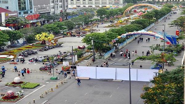 Cấm xe lưu thông vào đường Nguyễn Huệ trong đêm 13/5
