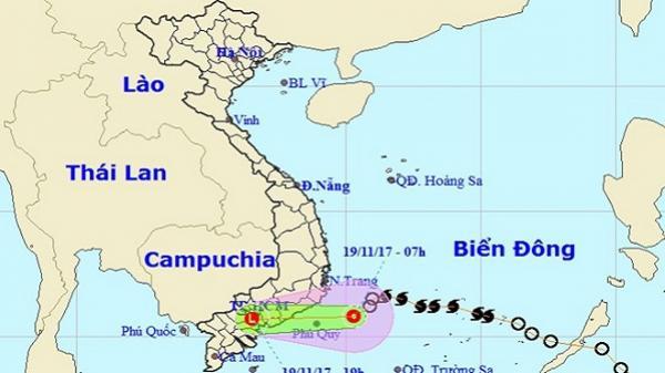 Áp thấp nhiệt đới di chuyển, các tỉnh Nam Bộ mưa lớn