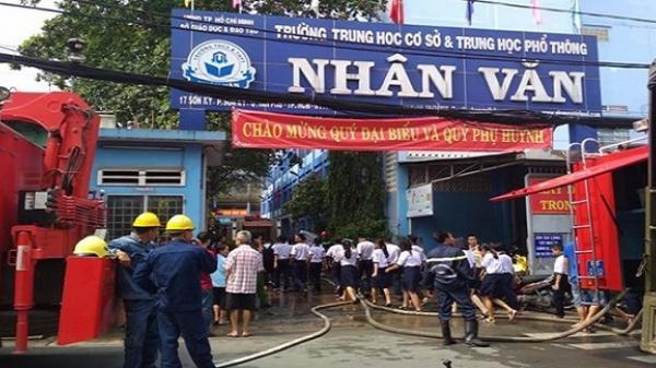 TP.HCM: Hiệu trưởng viết thư cảm ơn học trò sau vụ hỏa hoạn