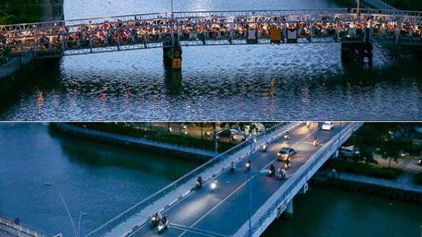 Nghịch lý kỳ lạ ở Sài Gòn: 2 cây cầu song song, người dân chen chúc đến kẹt xe trên cây cầu sắt cũ và hẹp
