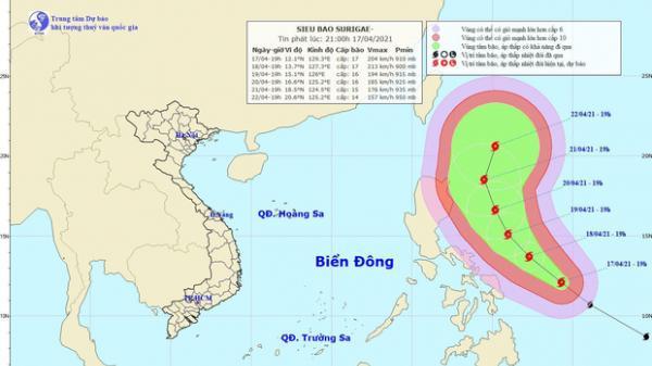 Yêu cầu các tỉnh sẵn sàng ứng phó siêu bão gần Biển Đông