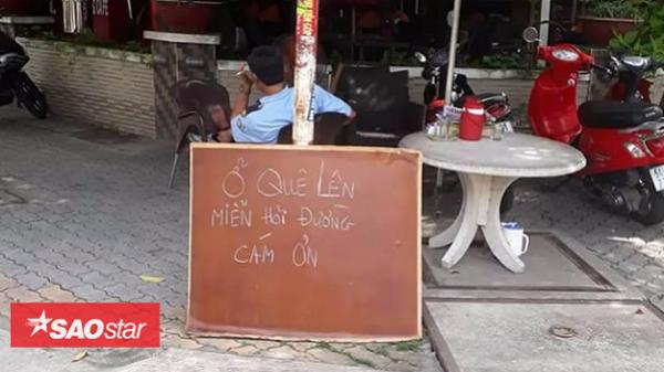 Quán cafe Sài Gòn gây xôn xao với tấm bảng 'Ở quê lên, miễn hỏi đường'