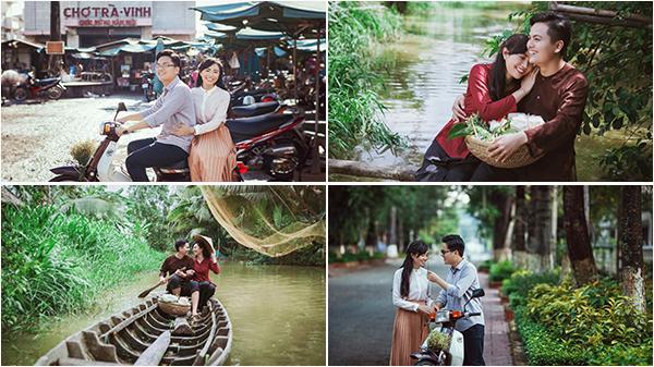 Đưa em đi khắp Trà Vinh trên chiếc xe cub, trên chiếc thuyền ghe - bộ ảnh cưới khiến ai thương nhớ miền Tây cũng phải nao lòng