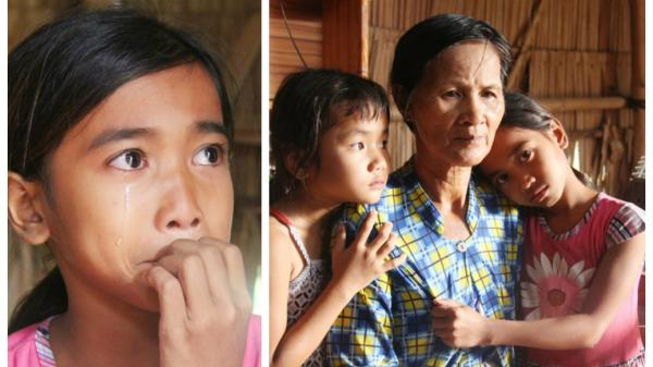Trà Vinh: XÓT XA hoàn cảnh 3 bé gái bị bố mẹ bỏ rơi, đi bán vé số mỗi ngày với ước mơ được tiếp tục đến trường