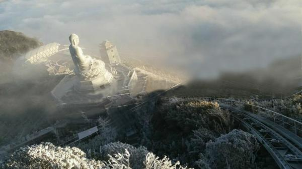 Khai quang tượng Phật A Di Đà lớn nhất Việt Nam trên đỉnh Fansipan