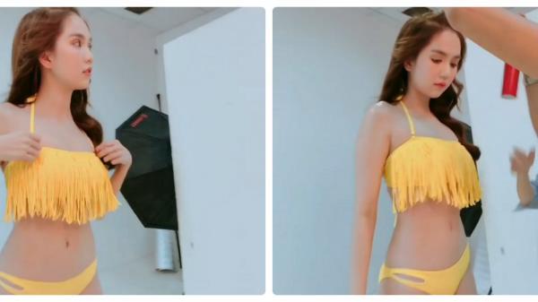 Nín thở ngắm Ngọc Trinh đung đưa bikini tua rua trên vóc dáng siêu nuột nà