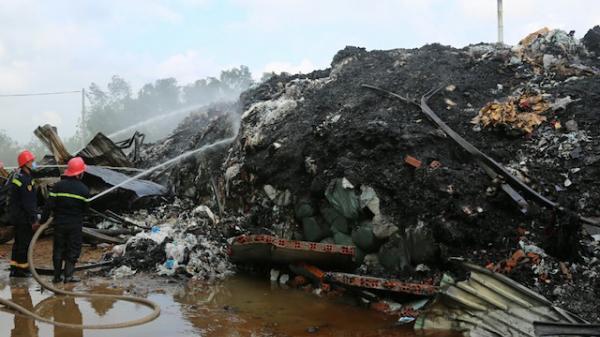 Trà Vinh: Cháy nhà máy xử lý chất thải gây thiệt hại gần 5 tỷ đồng