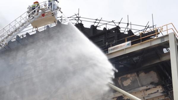 Vụ cháy nhà máy nhiệt điện Duyên Hải 3 (Trà Vinh) gây thiệt hại nặng