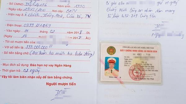 Trà Vinh: Nhiều cảnh sát cầm cố cả giấy chứng minh công an nhân dân để vay tiền
