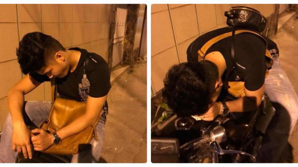 Chờ vợ cả đêm, chồng người đẹp Trà Vinh Lê Phương bị phát hiện ngủ gục bên đường