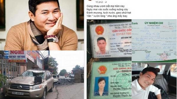 Doanh nhân Nguyễn Hoài Nam- chồng hoa khôi Thu Hương chuyển 240 triệu cho tài xế cứu người