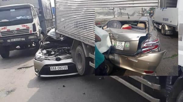 TAI NẠN KINH HOÀNG: Đâm xe loạn xạ trên quốc lộ, tài xế kêu cứu trong ô tô biến dạng