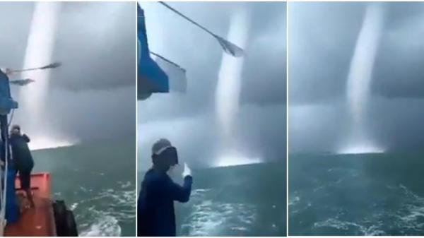Lý giải hiện tượng vòi rồng khổng lồ xuất hiện tại Sóc Trăng khiến ngư dân hoảng sợ