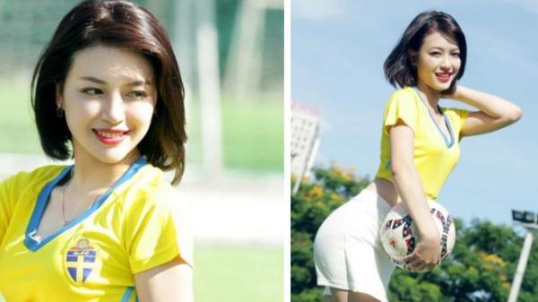 Cô gái Nghệ An bất ngờ nổi tiếng sau một đêm nhờ bóng đá